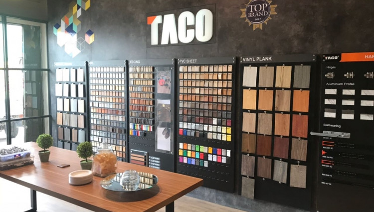 Display katalog taco hpl, sumber taco.co.id